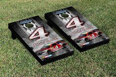 Our NASCAR KEVIN HARVICK #4 CORNHOLE GAME SET PIT ROW VERSION. Get your custom set at victorytailgate.com