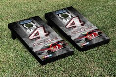 Our NASCAR KEVIN HARVICK #4 CORNHOLE GAME SET PIT ROW VERSION. Get your custom set at victorytailgate.com