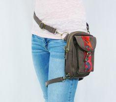 Daybreak Canvas Holster Pack- Thigh Holster, Protected Purse, Shoulder Holster, Handbag, Backpack, Purse, Messenger Bag, Fanny Pack on Etsy, $79.00