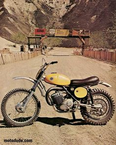 The 1973 AJS Stormer- Sported many innovations like the leading axle forks, thru the frame pipe, and forward mounted shocks. The Honda Elsinore knocked AJS off their perch.