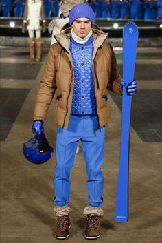 Moncler Grenoble Fall 2016 Ready-to-Wear Collection - Vogue Ski Fashion, Fashion Week, Fashion Show, Fashion Trends, Vogue Paris, Moncler, Yves Klein Blue, Men's Collection, Fall 2016