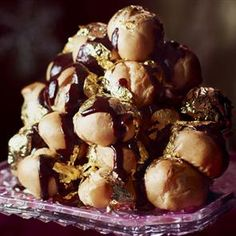 Salted caramel and chocolate profiteroles Recipe | delicious. Magazine free recipes