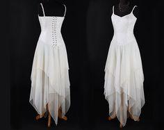 Hey, I found this really awesome Etsy listing at https://www.etsy.com/listing/266219701/ivory-faery-dress-silk-chiffon-size-m