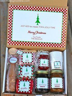 christmas sundae - free printables for Christmas and Thanksgiving ideas