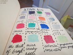 Stain log with nail polish colors. Let It Flow, Wreck This Journal, Nail Polish Colors, Journal Inspiration, Bee, Bullet Journal, Candy, Nails, Creative