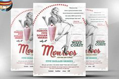 Monroes Flyer Template by FlyerHeroes on @creativemarket