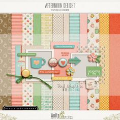 Quality DigiScrap Freebies: Afternoon Delight mini kit freebie from Anita Designs