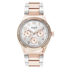 REGAL ASHLEY ROSE GOLD SILVER WATCH