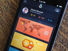 Visual App Data 22 Beautiful iOS App Concepts from Dribbble http://softwarelint.com/