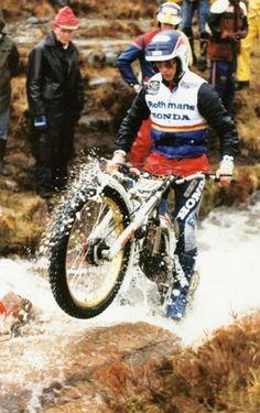 Eddy Lejeune. Honda RTL Trial