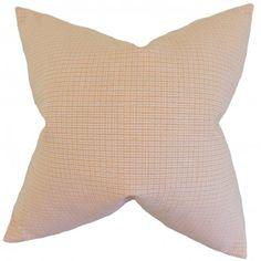 The Pillow Collection Hye Plaid Bedding Sham Size: Euro Orange Throw Pillows, Fur Throw Pillows, Velvet Pillows, Throw Pillow Sets, Decorative Throw Pillows, Floor Pillows, Plaid Bedding, Cotton Pillow, Cotton Fabric
