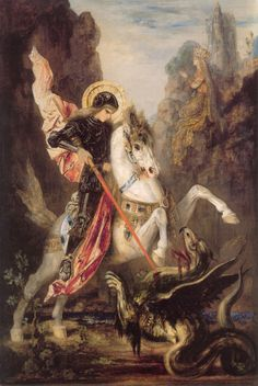 "Gustave Moreau     ""Saint George""  This reminds me of the Faire Queen"