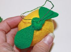 When life gives you yellow felt, make lemons!        Supplies: Yellow and Green Felt  Fiber fill  Green thread and needle  Pattern (you can ...
