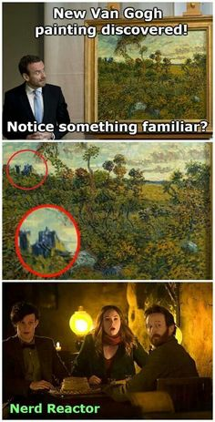 New Van Gogh painting found last year, see that blue? Doctor Who UPDATE: Sad news, I found that it was painted in two years before Vincent met the Doctor. Doctor Who, 11th Doctor, Dr Who, Serie Doctor, Van Gogh Paintings, Out Of Touch, Hello Sweetie, Don't Blink, Torchwood
