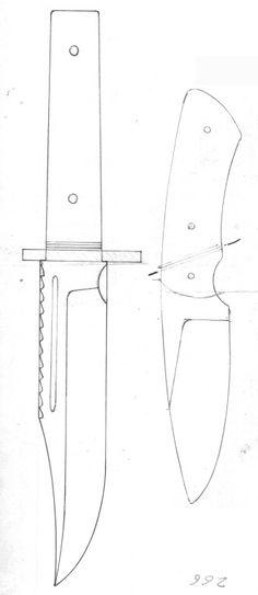 Pattern Knife Patterns, Pdf Patterns, Cool Knives, Knives And Swords, Knife Grinding Jig, Knife Drawing, Knife Template, Steak Knives, Knife Sheath
