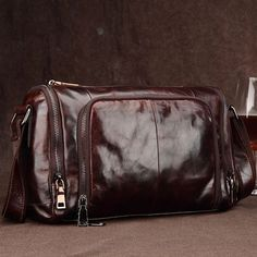 44.95$  Watch here - http://aiqfx.worlditems.win/all/product.php?id=32786757271 - 2017 New Barrel-shaped Genuine Leather Crossbody bag Men bags Brand Retro Coffee Color Natural Cowhide Men's Travel Shoulder bag