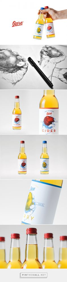 Opre' Cider - Packaging of the World - Creative Package Design Gallery - http://www.packagingoftheworld.com/2016/04/opre-cider.html