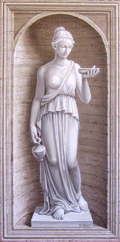 Niche with statue