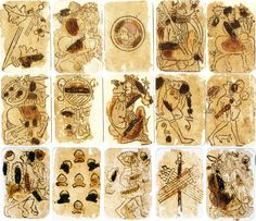 Early 15th Century Playing Cards, Baraja Morisca, possibly made in either Switzerland or Germany