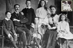 This is Mr and Mrs Goodwin and their 6 children who all died when the Titanic sank
