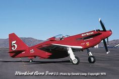 Red Baron P-51D Mustang with it's Griffon engine running at Reno