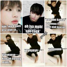 meme comik BTS part II (vkook/Taekook, namjin, yoonmin, jhope (? Funny Baby Memes, Memes Funny Faces, Bts Memes Hilarious, Aesthetic Memes, Boyfriend Humor, New Memes, Relationship Memes, Bts Korea, Yoonmin