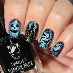 Halloween NailsI used following . From @whatsupnails stamping plate B023 with my code ✨blackqueennails10✨ you can get 10% off in your orders at www.whatsupnails.com #whatsupnails #whatsupnailsB023 From @bornprettystore Double-ended Gradient Blooming Pen Brush ID 31744 (With my code FML91 you can get 10% off at www.bornprettystore.com) #bornprettystore #bornprettystorenailart . From @twinkled_t Clear Jelly stamper and black stamping polishWith my code BQUEEN10 get 1...
