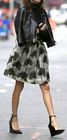 idée look perfecto avec jupe 2
