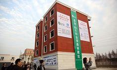 WinSun's 3D-printed building in Suzhou industrial park.
