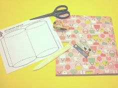 Pillow Box Template for giftcard or small gift.  (Maybe good packaging to hair clips or elastic headbands?)