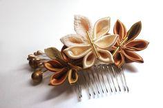 deviantART: More Like Sakura Hair Comb. Modeled tsumami kanzashi by ~hanatsukuri