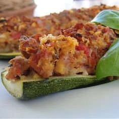 Stuffed Zucchini with Chicken Sausage Allrecipes.com