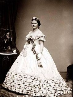 The dress that Keckley designed for Mary Todd Lincoln to wear at her husband's second inauguration ceremony and reception