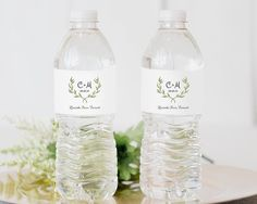 6f9c99d43d Printable Water Bottle Label, Water Bottle Label Template, Personalized  Wedding Water Bottle, DIY