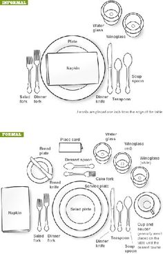 Wedding Table Setting Etiquette #formal #informal
