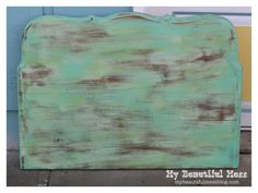 Faux Weathered Painted Wood Tutorial
