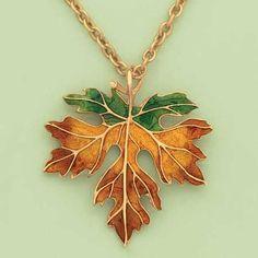 Autumn Leaf Pendant at www.amerimark.com