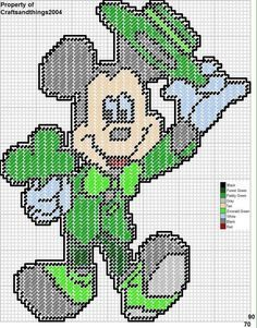 MICKEY MOUSE ST. PATRICK'S DAY WALL HANGING by CRAFTSANDTHINGS2004