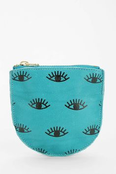 BAGGU Small Printed Leather Zip-Pouch