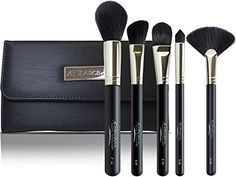 Aesthetica Pro Series 5Piece Contouring and Highlighting Makeup Brush Set  Includes Large Powder Foundation Angled Deluxe Fan  Precision Concealer Makeup Brushes  100 Vegan  Cruelty Free *** Find out more about the great product at the image link.