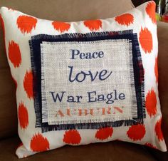 Auburn Tigers Pillow by VineandWineBoutique on Etsy, $28.00