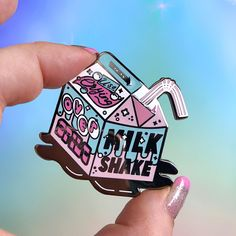 Milkshake - No Use Crying - Grease Enamel Pin
