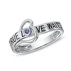 September Sapphire True Love Waits Heart Ring in Sterling Silver from Naomis & Co on OpenSky ***Available in all Birthstone Colors