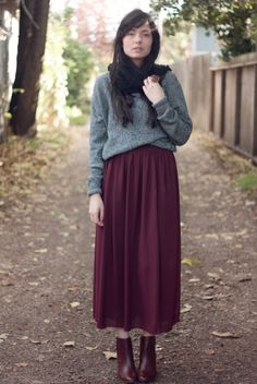 maxi skirt in winter #winter #maxi #wintermaxi