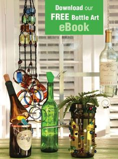 """Turn old glass bottles and jars into fun, unique works of art. Delphi Glass, the glass experts, have everything you need for Recycled Bottle Art, including NEW project kits from Diamond Tech and our FREE eBook. It's not just recycling, it's """"upcyling""""!"""