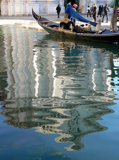 ~Church of San Barnaba reflected in Rio de San Barnaba, Dorsoduro, Venice, Italy