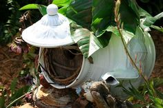I'll be looking for an old coffee /tea kettle Bright ideas: Build a Fairy House | KaBOOM!
