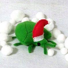 "Santa Stink Bug softie. Love it. Repin and join the ""buzz."" #Stinkbug101"