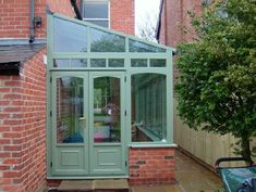 Sun Lounge (Lean To) Conservatories Diy Conservatory, Lean To Conservatory, Rustic Greenhouses, Curved Pergola, Outdoor Wall Decor, Greenhouse Interiors, Sun Lounge, Small Conservatory, Diy Greenhouse