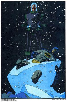 Batman & Mister Freeze. Mike Mignola.